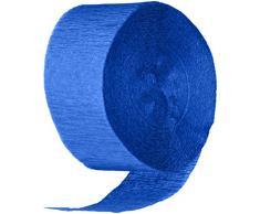 Cindus Crepe Luftschlangen, 4,4 ° cm von 81-feet königsblau