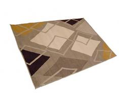 oKu-Tex Webteppich Teppichläufer Brücke PISA | Karomuster | Mehrfarbig | Modern | 120 x 170 cm