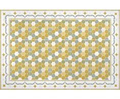HD86 Gladys Teppich, Vinyl, gelb, 180 x 120 x 0,22 cm