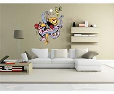 Indigos KAR-Wall-clm009-58 Wandtattoo fürs Kinderzimmer clm009 - Lustige kleine Monster - Riesen verrückt - Wandaufkleber 58 x 75 cm