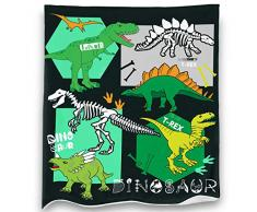 Loong Design No Drama Llama Überwurf, super weich, flauschig, Premium-Sherpa-Fleece-Decke, 127 x 152 cm, passend für Sofa, Stuhl, Bett, Büro, Reisen, Camping, Geschenk 50x 60 Dinosaurier