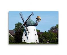 Premium Textil-Leinwand 75 x 50 cm Quer-Format Holländer Windmühle in Tündern von 1883   Wandbild, HD-Bild auf Keilrahmen, Fertigbild auf hochwertigem Vlies, Leinwanddruck von happyroger