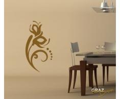 Graz Design 620467_30_083 Kühlschrank Aufkleber Wandtattoo für Küche Sprachen, Größe 52 x 30 cm, Farbe 083, haselnussbraun