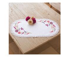 Vervaco Tischdecke Wildblumen Stickpackung im vorgedruckten/vorgezeichneten Kreuzstich, Baumwolle, Mehrfarbig, 30 x 60 x 0.3 cm