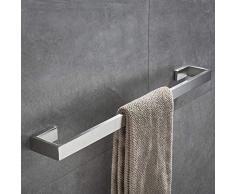 JunSun 4-teiliges Badezimmerzubehör-Set (Handtuchstange und Toilettenpapierhalter, Bademantelhaken, Handtuchhalter), Badezimmer-Zubehör-Set zur Wandmontage, Edelstahl, gebürstetes Nickel 23.6 W x 2.95 D x 1.18 H Towel Bar 24-inch