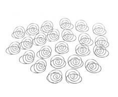 Darice Tischkartenhalter für Hochzeit, 24 Stück 24 Piece Silver Table Swirl
