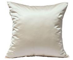tangdepot Massiv Seidig Überwurf Kissenbezügen, Scheint und Luxus Kissen, Seide, Khaki, 50,80 cm X 50,80 cm