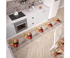 PETTI Artigiani Italiani Teppich für Küche 52x180 cm Frutta Secca