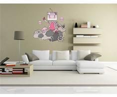 INDIGOS KAR-Wall-clm026-58 Wandtattoo fürs Kinderzimmer clm026 - Lustige kleine Monster - Menschenauflauf - Wandaufkleber 58 x 61 cm