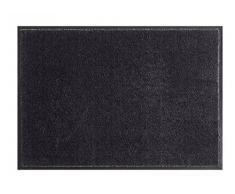 HANSE Home Soft & Clean Fussmatte Schmutzfangmatte, Polyamid, Schwarz, 58 x 90 x 0.7 cm