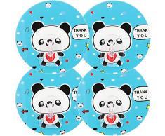 mumbi Handtuchhalter selbstklebend Handtuchhaken ohne Bohren Klebehaken, Kunststoff, Panda, 4-er Set