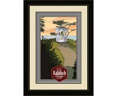 Northwest Art Mall mr-3727 mfgdm kalaloch Lodge Pavillon gerahmtes Wandbild Art von Künstler Mike rangner, 33 x 40,6 cm Satin schwarz