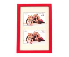 Inov8 PFV-RERE-DA1 Traditionell Briten Foto und Bilderrahmen, 20 x 30 cm, Dual Blende 2x 10 x 15 cm, Packung mit 4, value regal rot