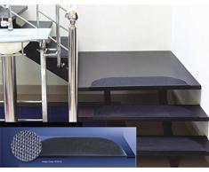 EHC Tagesdecke Stufenmatten Schritt Matte, 25x 76cm (drinnen oder draußen verwendbar), Gummi, Schwarz, 25_ x _ 76_ cm