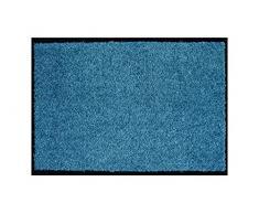 ASTRA hochwertiger Schmutzfangmatte – waschbarer Fußabstreifer – robust – langlebige Fußabtreter – für den Indoorbereich – blau – 60 x 180 cm