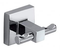 Gedy Olimpo Toilettenpapierhalter mit Deckel, Edelstahl, Chrom, 12,6 x 4,8 x 13
