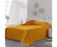 PETTI Artigiani Italiani Tagesdecken, Orange, Bettgröße 120 (220x260 cm)