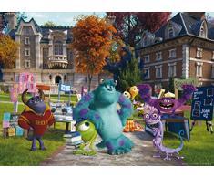 AG Design FTDm 0708 Die Monster Uni Disney, Papier Fototapete Kinderzimmer- 160x115 cm - 1 Teil, Papier, multicolor, 0,1 x 160 x 115 cm