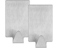 mumbi Handtuchhalter selbstklebend Handtuchhaken ohne bohren Klebehaken rechteckig Edelstahl 2er Set
