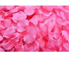 Lothringen Hochzeit Tisch Dekoration Seide Rosenblätter Blumen Konfetti hot pink