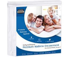 UTOPIA Betten Premium Reißverschluss Wasserdichte Matratze umgreifung, Polyester-Mischgewebe, Volle Größe