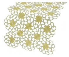 Xia Home Fashions Daisy Splendor Bestickt Durchbrucharbeit Spring Tisch Läufer, 15 von 183 cm, gelb