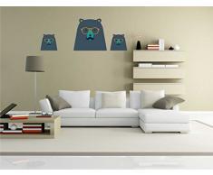 INDIGOS KAR-Wall-clm042-70 Wandtattoo fürs Kinderzimmer clm042 - Lustige kleine Monster - Niedlichen Hund - Wandaufkleber 70 x 26 cm