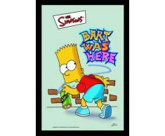 empireposter - Simpsons, The - Bart Was Here - Größe (cm), ca. 20x30 - Bedruckter Spiegel, NEU - Beschreibung: - Bedruckter Wandspiegel mit schwarzem Kunststoffrahmen in Holzoptik -