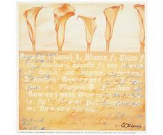 Eurographics ANF1526 Anna Flores, Callas in Natural 18 x 18 cm, Hochwertiger Kunstdruck - Blumen