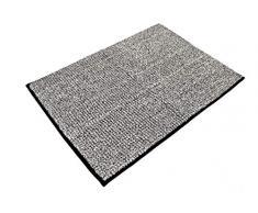 RIDDER 7021410-00 Fresh Badteppich, Teppich, Vorleger, Polyester, schwarz, ca. 60x90 cm