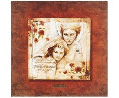 Eurographics JO2296 Joadoor, Les anges-Lange gardien 30 x 30 cm, Hochwertiger Kunstdruck - Erotik