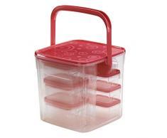 Xavax Set Frischhaltedosen, Kunststoff, Rot, Universal