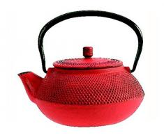 The Küchenzeile 7321493Shogun Teekanne Gusseisen Rot 15,5x 15,5x 9cm