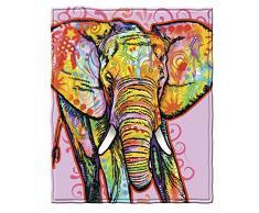 Dawhud Direct Dean Russo Elefant Fleece Überwurf Decke
