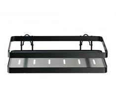 Wenko Universalregal Gala, Küchenregal als Zusatzfläche zum Abstellen von Dosen, Flaschen, Gläsern, etc., aus hochwertigem pulverbeschichtetem Flachstahl in Schwarz, 25 x 5,5 x 12 cm