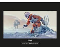Komar Wandbild Star Wars Classic RMQ Hoth Battle Pilot | Kinderzimmer, Jugendzimmer, Dekoration, Kunstdruck | ohne Rahmen | WB144-40x30 | Größe: 40 x 30 cm (Breite x Höhe)