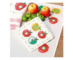 Vervaco PN-0150536 Topflappen Äpfel I aida, 2-er set, bunt