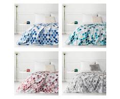 Deisgn91 Decke Wohndecke Sofadecke Sesseldecke Kuscheldecke Bettüberwurf Kloe Set Wohnzimmer, Polyester, Silber, 70x160 cm
