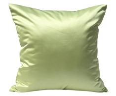 tangdepot Massiv Seidig Überwurf Kissenbezügen, Scheint und Luxus Kissen, Seide, Baby Green, 56 x 56 cm