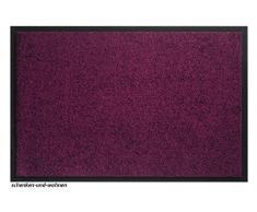 Hamat Teppich für Eingangsbereich, Twister – Fuchsia – 40 x 60 cm – rutschfeste Unterseite aus Vinyl, violett, 60 x 80 cm