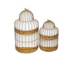 Privilege 18398 Wand Decor-Bird Käfig Übertopf, 2-teilig
