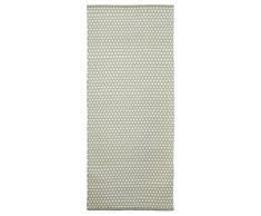 Jute & co Nizza Teppich handgewebt, 100% Baumwolle, Grau, 220 x 60 x 0.5 cm