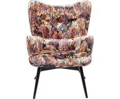 Kare Sessel Vicky Velvet Tropical Safari, 83058, samtiger Loungesessel, TV-Sessel mit Dunklem Holzgestell, (HxBxT) 92x59x63cm
