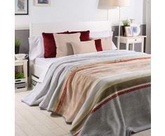 Sancarlos ARTICO Überwurf, Grau, für Bett mit 135 cm Breite
