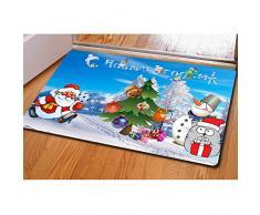 Buybai Cool 3D Weihnachts-Bedruckte Fußmatten Fußmatten für drinnen und draußen, Schlafzimmer, Küche, Teppich One_Size Merry Christmas -26