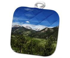 3dRose phl_273524_1 Topflappen COLORADO ESTES NATIONAL PARK Mountain View 20 x 20 cm
