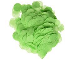 Wrapables 2,5 cm rund Gewebe Konfetti Party Dekorationen für Hochzeiten, Geburtstagsfeiern, und Duschen grün