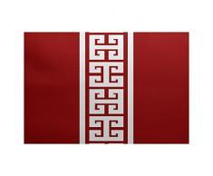 E-design 2 x 3-ft, Schlüssel Stripe Print Teppich, rot