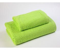 Das Dragon Blanco Pack Waschbecken mit Badetuch, 100% Baumwolle, Pistazie, 50 x 100; 100 x 150 cm