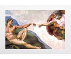Bilderdepot24 selbstklebende Fototapete Michelangelo - Alte MeisterDie Erschaffung Adams 200 x 130 cm - direkt vom Hersteller, Vinyl
